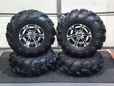 "YAMAHA GRIZZLY 700  27"" WILD THANG DEEP LUG ATV TIRE & VIPER WHEEL KIT IRS1CA"