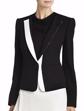 NWT BCBG MAX AZRIA SzL MARCELLE COLOR-BLOCKED JACKET BLAZER BLACK $298