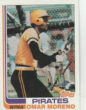 FREE SHIPPING-MINT-1982 (PIRATES) Topps #395 Omar Moreno (FACSIMILE AUTOGRAPH)-X