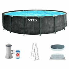 Intex Prism Frame Premium Pool Set 457x122cm - Legno Grigio (26742NP)