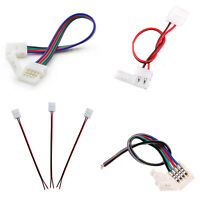 LED Strip Light 2Pin 4Pin RGB Cable Clip Connector Wire 3528 5050 5630 Extension