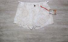 NEW Da Nang Linen Blend Shorts in White/ Beige Size SMALL SLS5801553