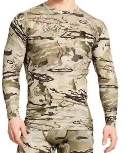 Under Armour UA Base Layer 1247860 Ridge Reaper Barren Camo Thermal Hunt Top