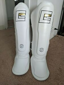 CRNR Kickboxing Shin Guards with Ultra Pro Boxer Compression Short W/ Ultra Cup