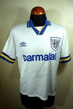 VTG Men's Umbro Parma AC Calcio Parmalat 93-94-95 Home Soccer Jersey MD Retro