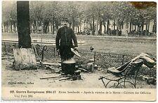 WW1 . REIMS Bombardé . Cuistots des Officiers . LE MENICIER . ROUEN