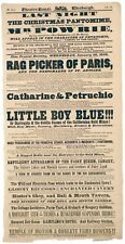 1850 British playbill with a reference to the California Gold Rush
