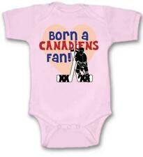 Born a Canadiens Hockey Fan Baby Bodysuit Cute New Gift Choose Size & Color