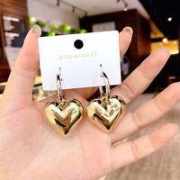 Gold Color Big Dangle Metal Drop Earrings Jewelry Gifts For Women Hoop Earrings