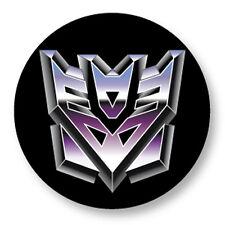 "Pin Button Badge Ø25mm 1"" Transformers Decepticans Decepticons Cybertron"