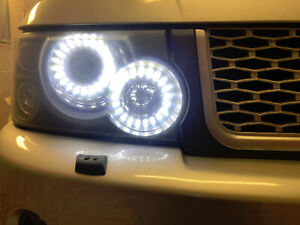 Range Rover Sport 2005-2009 Headlight Conversion to 2013 Staggered LED Lighting