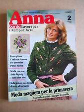 ANNA Burda n°2 1982 con cartamodelli  [C60]