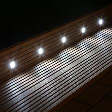 10 LED Bodeneinbaustrahler Set für Garten Terrasse Stufen Treppen innen außen