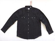 Levi's Western Shirt Men's Black Denim Long Sleeve Pearl Snaps Size 2XL Size XXL