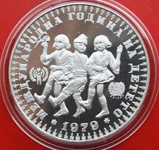 Bulgaria-Bulgarien: 10 Leva 1979 Silber, KM# 104, PP-Proof, #F 1230