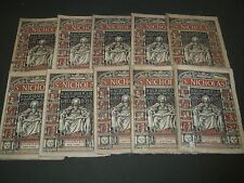 1878 ST. NICHOLAS MONTHLY MAGAZINE LOT OF 10 ISSUES - NICE ILLUS & ADS - WR 199D