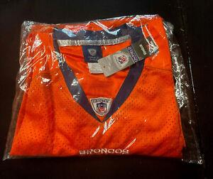 Tim Tebow Reebok NFL On Field Authentic Denver Broncos #15 Size 56 Orange Jersey
