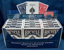 12 X Bicycle Rider Back 808 Playing Cards.Black Deck New Sealed. U.S.P.C.C.