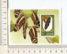36798) GRENADA Gren. 1993 MNH** Butterfly, The Zebra S/S