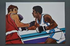R&L Postcard: 1984 Los Angeles Olympics, Robert Peak, Boxing