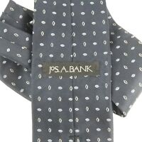 "Jos. A. Bank Blue Long Geometric Silk Neck Tie 61.5"" L 3 3/4"" W"