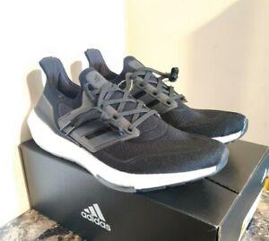 Adidas Ultra boost Ultraboost  21 Core Black white Sz 11 New! FY0378 running