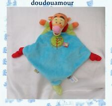 Doudou Peluche Plat Tigrou  Bleu Orange Rouge Rond Vert Nicotoy Disney Baby