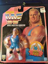 Mr. Perfect HASBRO Series 8 Blue Trunks Red Card WWF Wrestling Figure MOC C-9.0