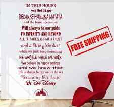 In This House, We Do DIsney Vinyl Wall Decal, Free Shipping