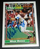 Wade Boggs Signed 1992 Topps Red Sox Baseball Card #399 PSA/DNA COA Autograph