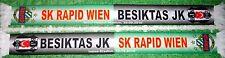 """Original Rapid Wien Poly Schal """"Spielschal gegen Besiktas""""  + neu+  für Sammler"""