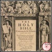 King James Bible 1611 - First Edition - BONUS German Gutenberg Bible 1454 - DVD