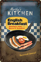 English Breakfast embossed metal sign (na 3020) REDUCED TO CLEAR--------------