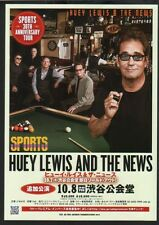 2013 Huey Lewis and The News Japan concert tour flyer / mini poster / japanese