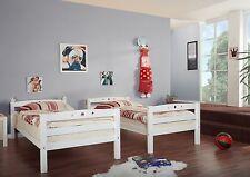 Lit superposés OLIVER Hêtre teinté blanc extra haut