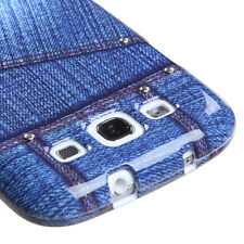 Blue Jeans w/Stud Snap-On Hard Case Cover Accessory for Samsung Galaxy S3