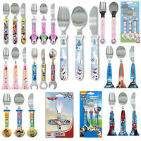 Disney & Kids TV Character Dinner School Cutlery Set Brand New Gift