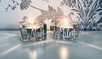 Personalised Glass Tea light Candle holder  Mum Dad Nan Grandad - Any Name.