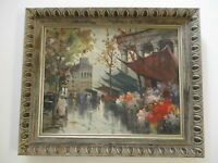 VINTAGE ANDRE MICHEL PAINTING PARIS FRANCE FRENCH IMPRESSIONIST MCM REGIONALISM