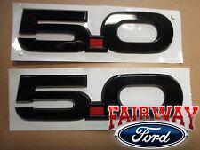 15 thru 17 Mustang OEM Ford BLACK 5.0 Fender Nameplate Emblem RH & LH PAIR of 2
