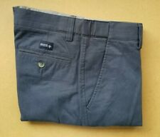 """Men`s Ex-Maine Flexible Waistband Tailored Fit Blue Chino Trousers Pant 32""""/32"""""""