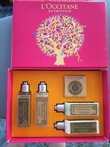 L'Occitane En Provence Box Gift Set Verbena Lotion Gel, Soap Cream Shampoo