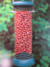 "Set De 2-Mediano Bird Peanut alimentador Pvc Tapa Manija De Acero Inoxidable 8 "" # 1o5"