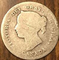 1897 CANADA SILVER 5 CENT