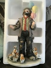 """The Emmitt Kelly Jr Collection By Flambro """"Clown W/ Balloons And Puppies�"""