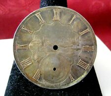 43Mm Pocket Watch Dial Custom Made Rare Antique Sterling Silver Gold Plated
