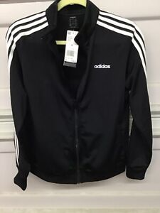 Adidas Men's Full Zip Up Squad ID Track Jacket Black/White DP2406 Size M.   New