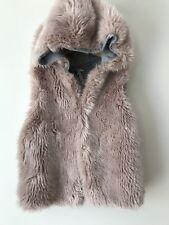Girls Age 7 Furry Pink Gilet Waistcoat Sleeveless Jacket 6-7 Years