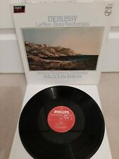 "6514 260 - DEBUSSY La Mer / Nocturnes DAVIS Boston SO Vinyl 12"" LP"