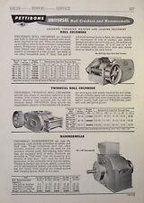 1955 AD(H8)~PETTIBONE <PMCO> UNIVERSAL ROLL CRUSHERS, HAMMERMILLS & JAW CRUSHERS